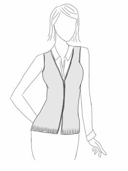 V-neck Cardigan Vest